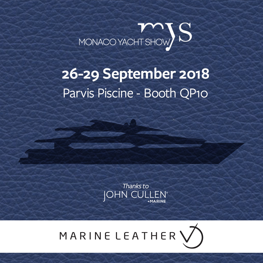 MARINE LEATHER EXIBITHING AT MONACO YACHT SHOW 2018